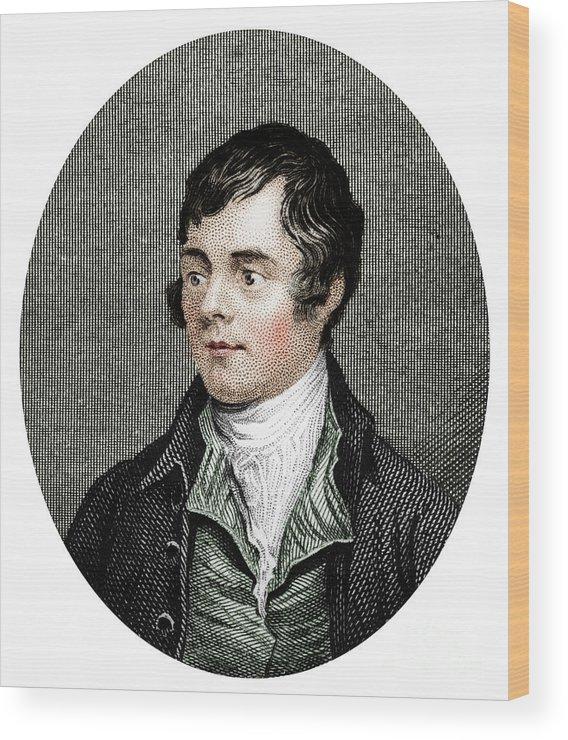 Robert Burns Wood Print featuring the drawing Robert Burns, Scottish Poet, 1877 by Print Collector