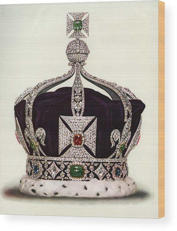 Crown Wood Print featuring the photograph The Imperial Crown Of India by Graphicaartis
