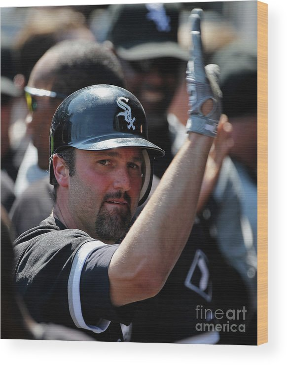 People Wood Print featuring the photograph Paul Konerko by Jonathan Daniel