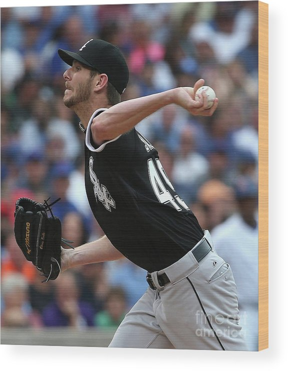 Three Quarter Length Wood Print featuring the photograph Chris Sale by Jonathan Daniel