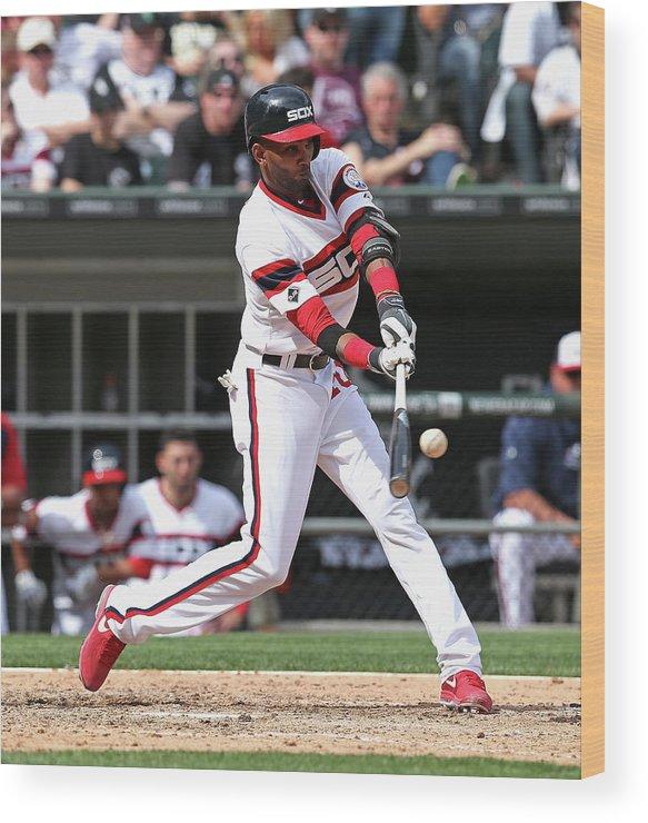 American League Baseball Wood Print featuring the photograph Alexei Ramirez by Jonathan Daniel