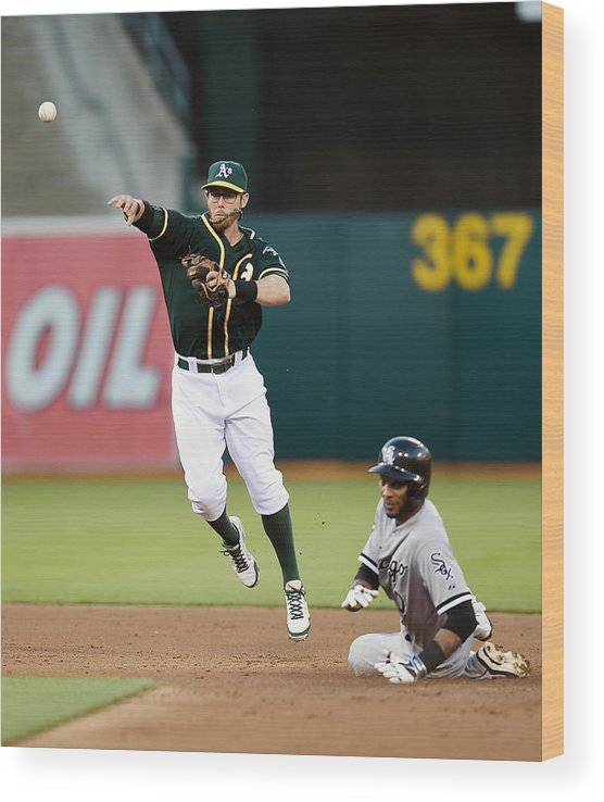 Double Play Wood Print featuring the photograph Alexei Ramirez and Eric Sogard by Thearon W. Henderson