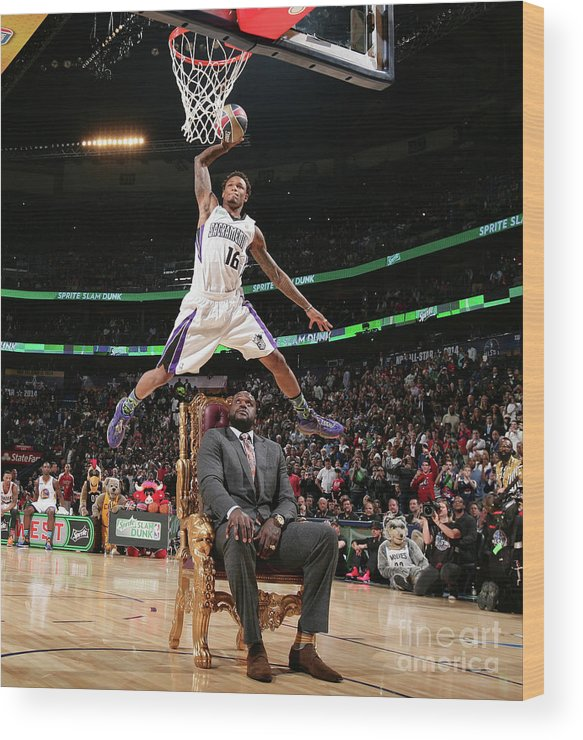 Nba Pro Basketball Wood Print featuring the photograph Ben Mclemore by Nathaniel S. Butler