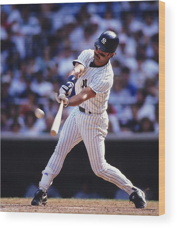 American League Baseball Wood Print featuring the photograph Don Mattingly by Ronald C. Modra/sports Imagery