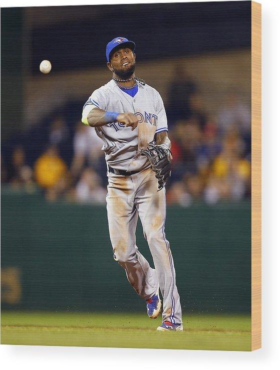 American League Baseball Wood Print featuring the photograph Jose Reyes by Matt Sullivan
