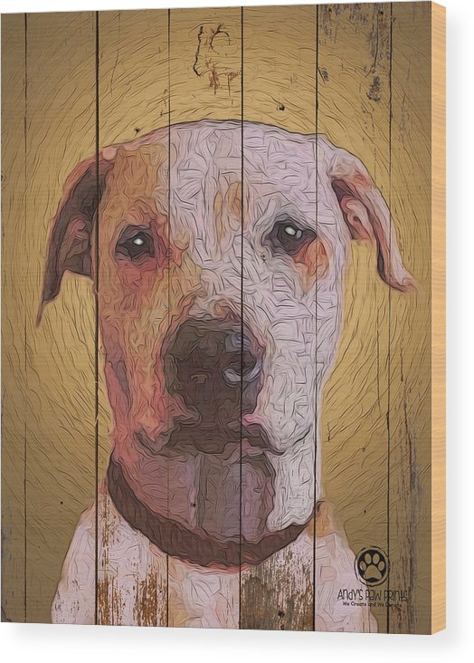 8353537 Wood Print featuring the digital art 8353537 by Andy Accessories