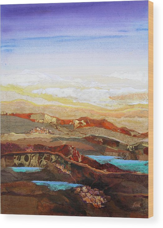 Mixed Media Wood Print featuring the painting Arizona Reflections Number Two by Don Trout