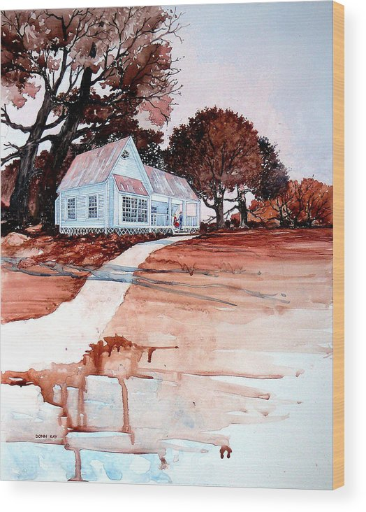 Love Wood Print featuring the painting Country Court' N by Donn Kay