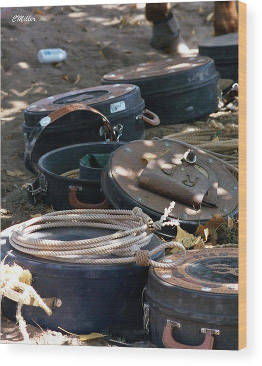 Rodeo Wood Print featuring the photograph Rope Cans.. by Carol Miller