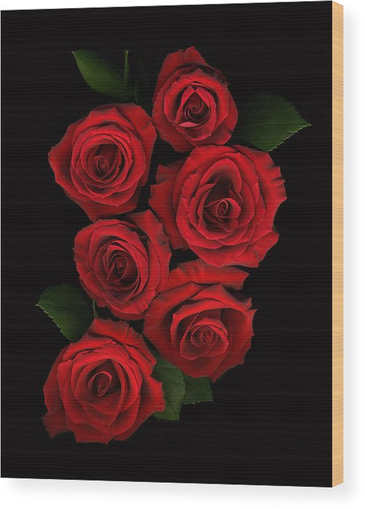 Romance Wood Print featuring the photograph Roses Of Love by Deborah J Humphries