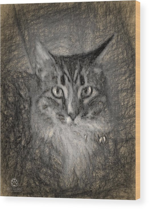 Shasta Wood Print featuring the digital art Shasta by Andy Accessories