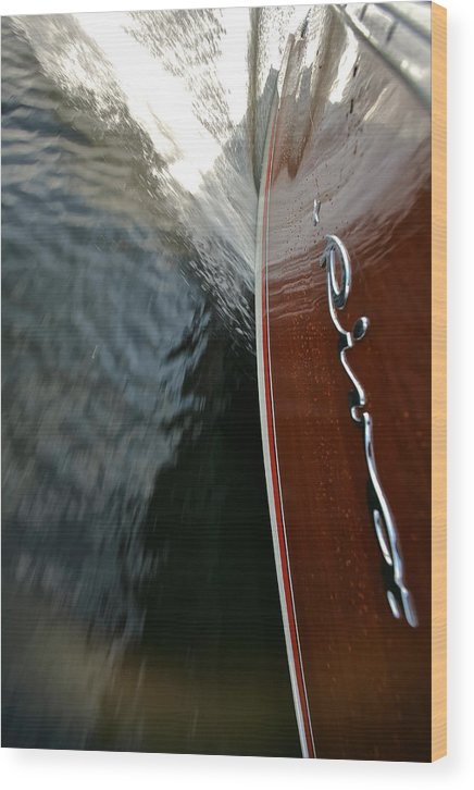 Riva Wood Print featuring the photograph Riva Wake by Steven Lapkin