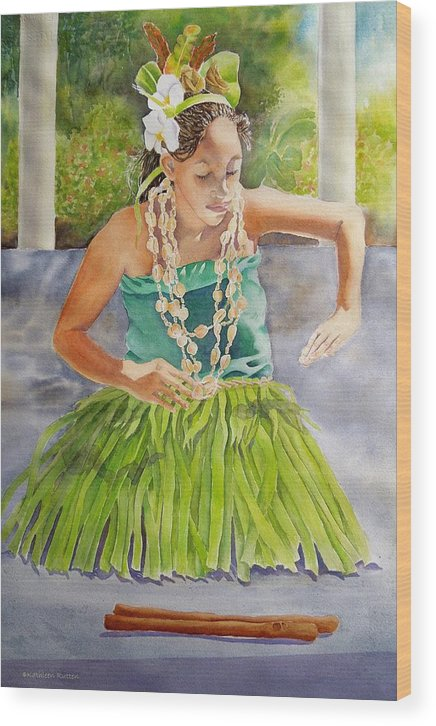 Tropical Dancer Wood Print featuring the painting Island Rhythms by Kathleen Rutten