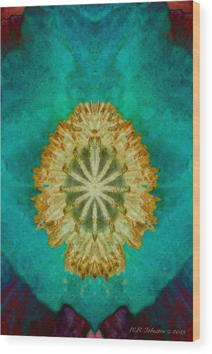 Poppy Wood Print featuring the photograph Poppy Dreams by WB Johnston