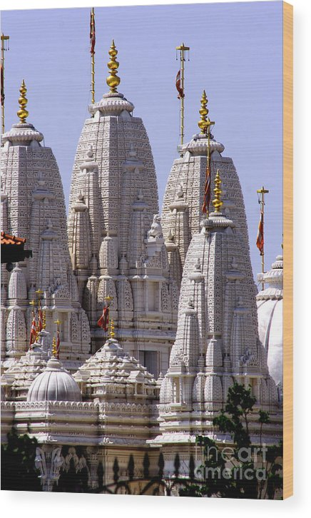 Temples: Religious Buildings: Churches: Architecture: Wood Print featuring the photograph Temple Towers by Anthony Amor