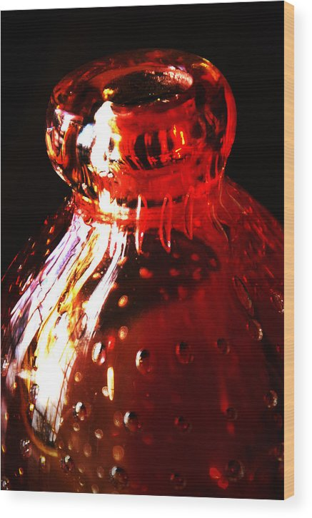 Glass Wood Print featuring the photograph Small Red Vase by Simone Hester