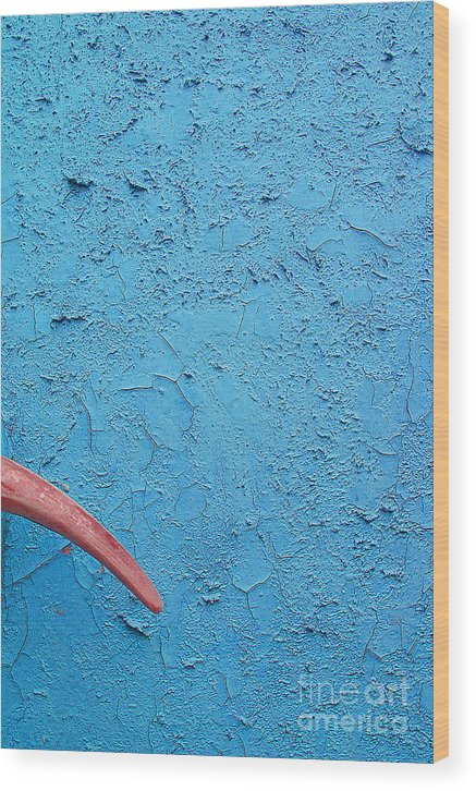 Blue Wood Print featuring the photograph Untitled by Vadim Grabbe