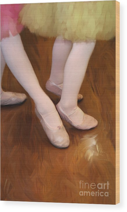 Young Wood Print featuring the photograph Ballet Girls by Jeannie Burleson