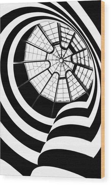 Guggenheim Museum Wood Print featuring the photograph Beam Me Up by Az Jackson