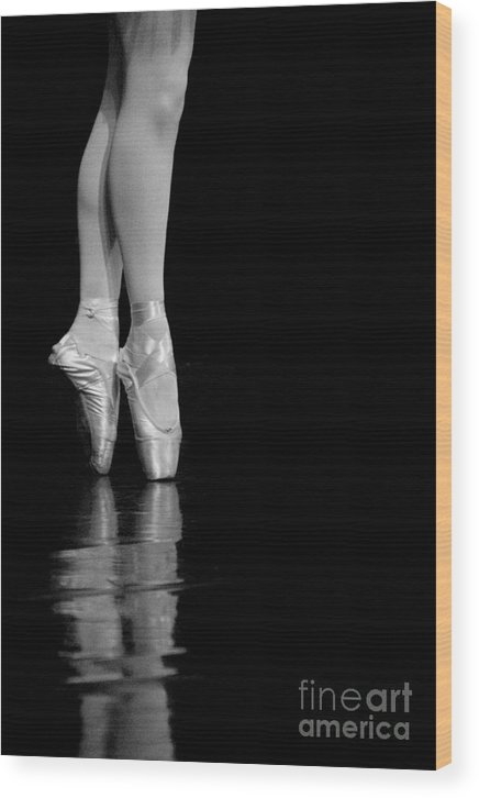 Pointe Wood Print featuring the photograph En Pointe by Jeannie Burleson