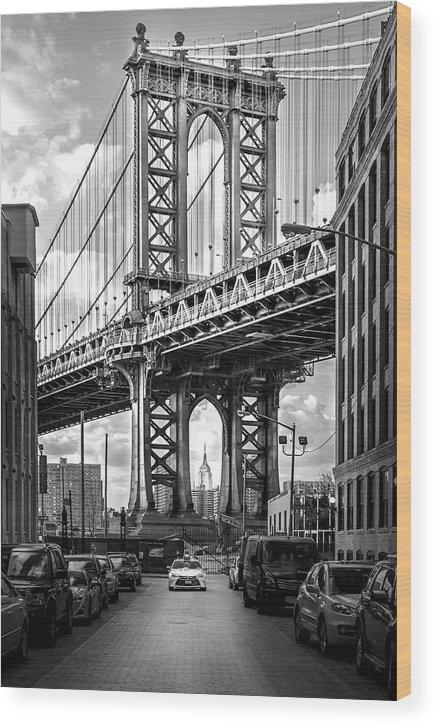 New York City Wood Print featuring the photograph Iconic Manhattan Bw by Az Jackson