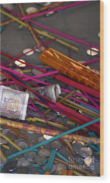 Incense Wood Print featuring the photograph Incense And Alms by April Holgate