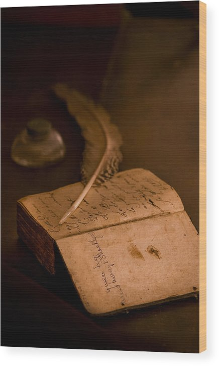Aged Wood Print featuring the photograph Keepers Journal by Karen Hanley Colbert