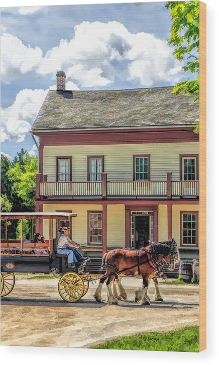 Old World Wisconsin Wood Print featuring the painting Main Street Of A Bygone Era At Old World Wisconsin by Christopher Arndt