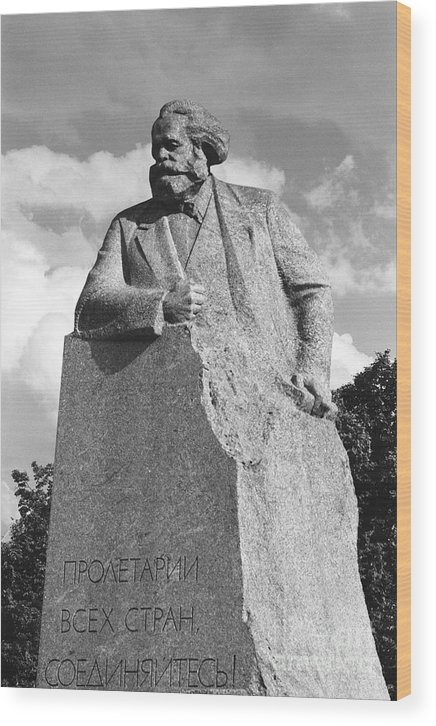 Karl Marx Wood Print featuring the photograph Marx by Susan Chandler