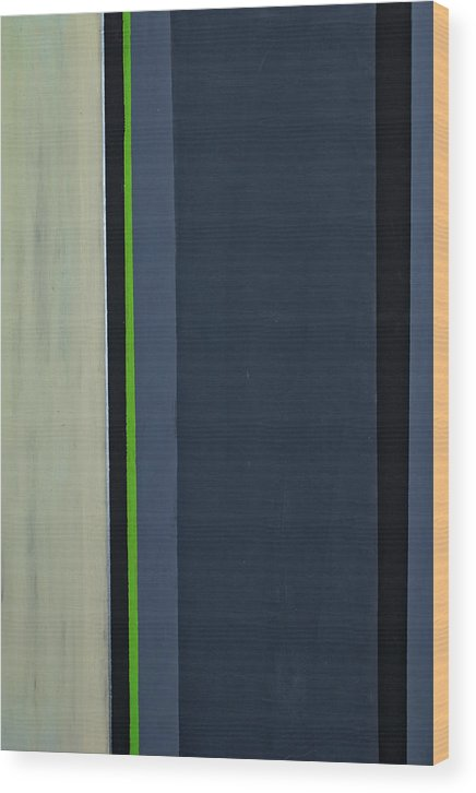Geometric Wood Print featuring the painting Modern Stripe 1 by Slade Roberts