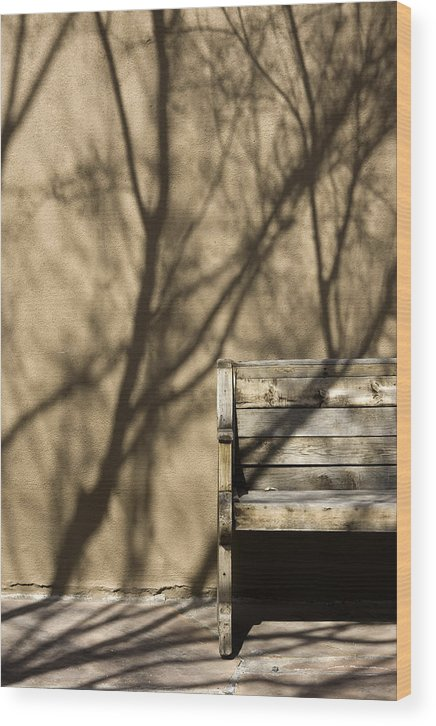 Photo Wood Print featuring the photograph Old Bench by Carmo Correia