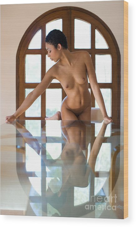 Sensual Wood Print featuring the photograph Reflection Time Again by Olivier De Rycke
