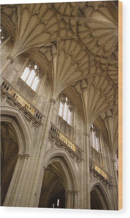 Winchester Cathedral Wood Print featuring the photograph Vaulted Ceiling by Michael Hudson