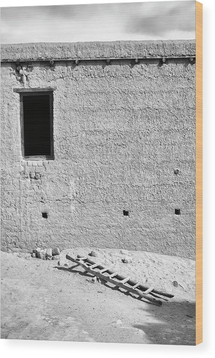 Window Wood Print featuring the photograph Window And Ladder, Shey, 2005 by Hitendra SINKAR
