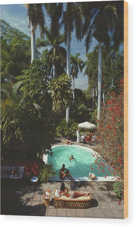 1980-1989 Wood Print featuring the photograph Mazatlan Mansion by Slim Aarons