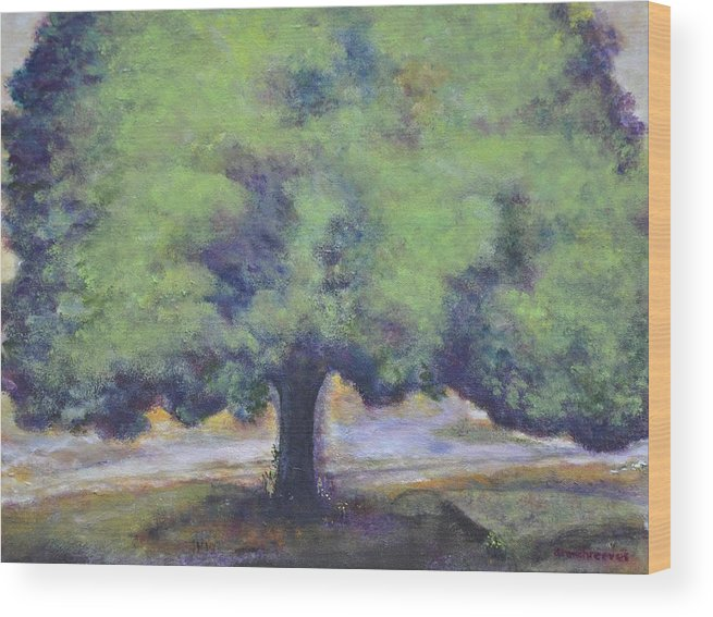 Landscape Wood Print featuring the painting        Pregnant by Dottie Branchreeves