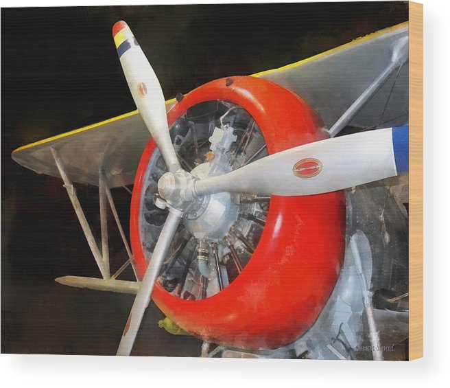 Steampunk Wood Print featuring the photograph Airplane - F3f-2 Biplane by Susan Savad