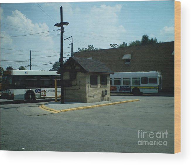Chicago Wood Print featuring the photograph Archer/neva Cta Bus Terminal by Alfie Martin