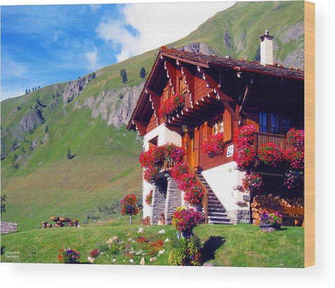 Alexandros Daskalakis Wood Print featuring the photograph Beautiful Cottage by Alexandros Daskalakis