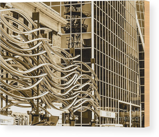 Digital Colour Wood Print featuring the photograph City Center -27 by David Fabian