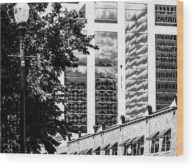 Reflections Wood Print featuring the photograph City Center -64 by David Fabian