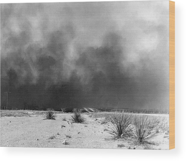 1936 Wood Print featuring the photograph Drought Dust Storm, 1936 by Granger