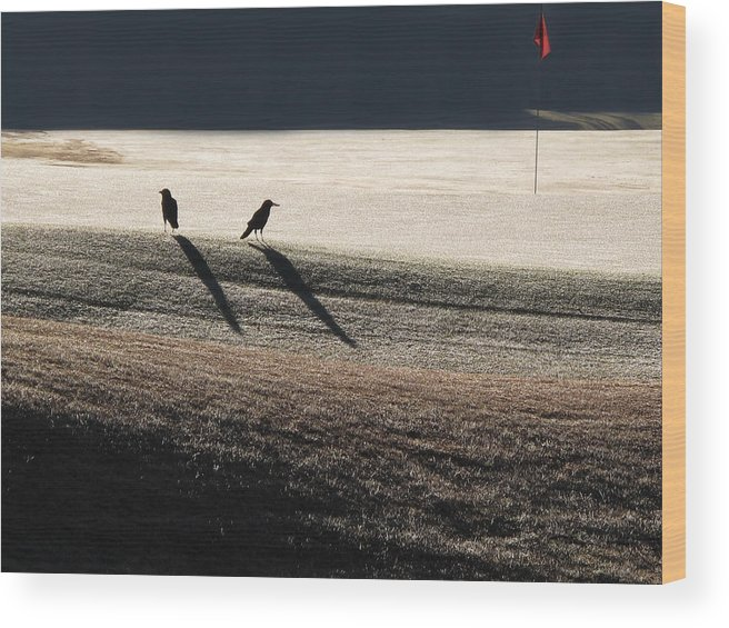 Crows Wood Print featuring the photograph Eighteenth Hole by Monika A Leon