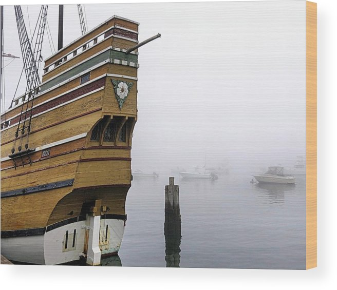 Foggy Harbor Wood Print featuring the photograph Foggy Harbor by Janice Drew