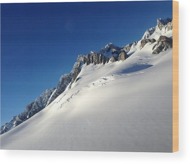 Glacier Wood Print featuring the photograph Glacier by Ron Torborg