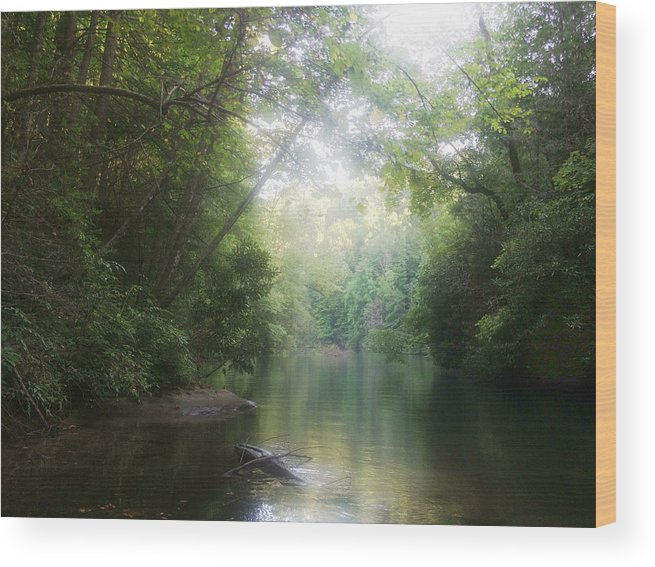 Lake Wood Print featuring the photograph Lake Jocassee by Christina Moore