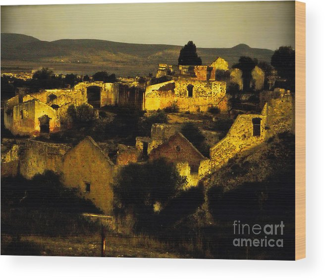 Wood Print featuring the photograph Mineral De Pozos by Karla Weber