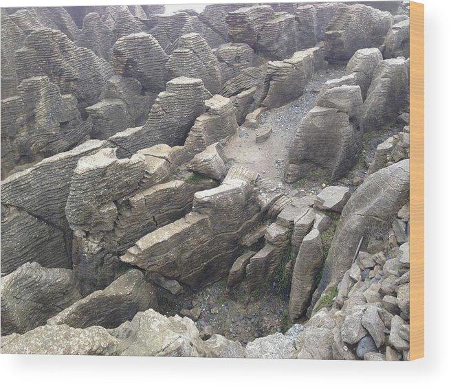 Pancake Wood Print featuring the photograph Pancake Rocks by Ron Torborg