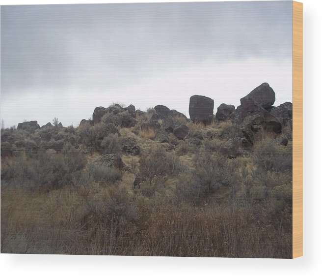 Wood Print featuring the photograph Rocks by Angela Stout