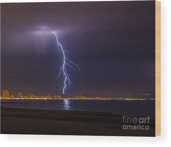 Wood Print featuring the photograph Storm by Eugenio Moya